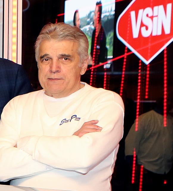 Jimmy Vaccaro, VSiN expert oddsmaker, at VSiN studio on Friday, Feb. 3, 2017, at South Point hotel-casino in Las Vegas. (Bizuayehu Tesfaye/Las Vegas Review-Journal) @bizutesfaye