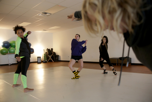 Instructors Troinetta Nikki, from left, Janan Laubscher, Judy Micaiah, and Denise Darnell warm up on Monday, Feb. 20, 2017, at the Darnell Dance Works Collective dance studio in Las Vegas. (Rachel ...