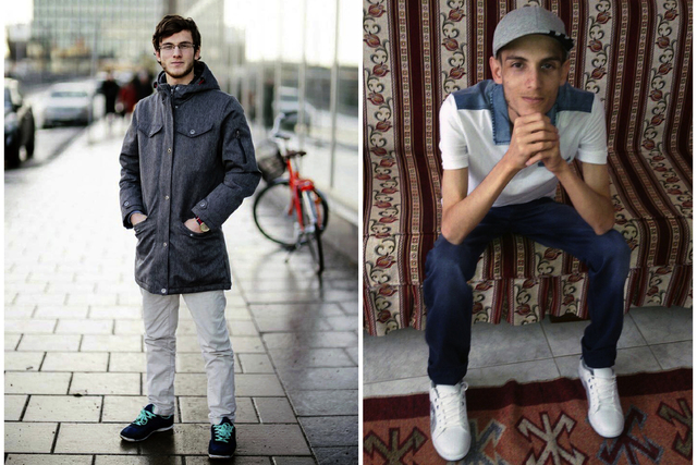 In this combination of two photos of Omar Alshogre, a 21-year Syrian former detainee, now living in Stockholm, Sweden. The left picture is of Alshogre taken on January 2017 in Stockholm, Sweden. T ...