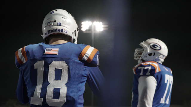 "Bishop Gorman quarterback Tate Martell, left, is featured in the docuseries ""QB1."" (courtesy photo)"