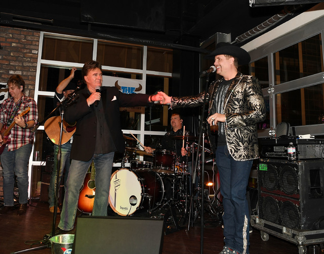 TG Sheppard and John Rich perform at the Redneck Riviera VIP grand opening hosted by John Rich and friends on February 16, 2017 in Las Vegas, Nevada.  (Photo by Denise Truscello/Getty Images for R ...