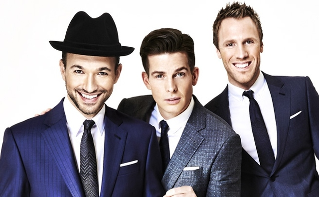 Victor Micallef, Clifton Murray and Fraser Walters of The Tenors. (Courtesy)