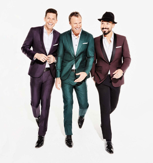 Clifton Murray, Fraser Walters and Victor Micallef of The Tenors. (Courtesy)