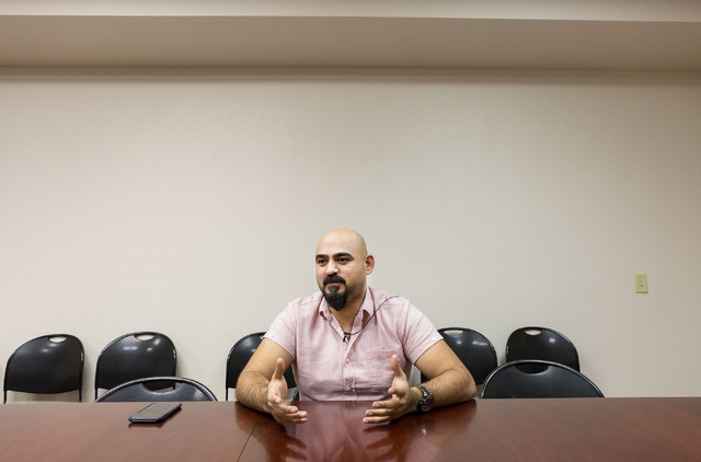 Dhulifiqar Naqvi, refugee from Iraq, discusses his journey to the United States and awaited arrival of this brother, Catholic Charities of Southern Nevada, North Las Vegas Blvd. and North Owens Av ...