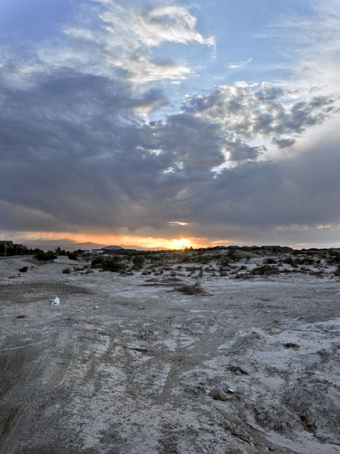 The area north of Deer Springs Way is the site of a roughly 2,000-acre housing development. (Jerry Henkel/Las Vegas Review-Journal)