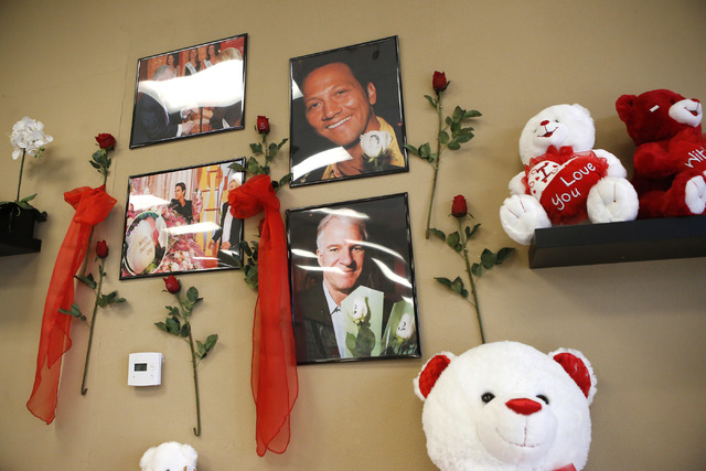 A wall featuring images of celebrities who have done business at VIP Florist on Thursday, Feb. 9, 2017, in Las Vegas. (Christian K. Lee/Las Vegas Review-Journal) @chrisklee_jpeg