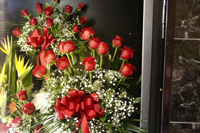 Roses at VIP Florist on Thursday, Feb. 9, 2017, in Las Vegas. (Christian K. Lee/Las Vegas Review-Journal) @chrisklee_jpeg