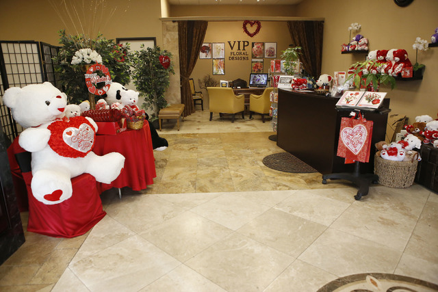 VIP Florist store on Thursday, Feb. 9, 2017, in Las Vegas. (Christian K. Lee/Las Vegas Review-Journal) @chrisklee_jpeg