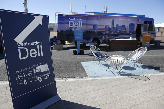The Destination Dell mobile tour bus before the start of the event near the Las Vegas City Hall on Wednesday, Feb. 22, 2017, in Las Vegas. (Christian K. Lee/Las Vegas Review-Journal) @chrisklee_jpeg