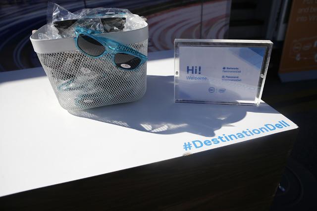 A welcome desk during Destination Dell mobile tour bus event near the Las Vegas City Hall on Wednesday, Feb. 22, 2017, in Las Vegas. (Christian K. Lee/Las Vegas Review-Journal) @chrisklee_jpeg