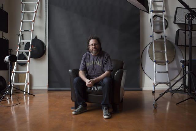 Music and portrait photographer Erik Kabik at his home studio on Thursday, Feb. 16, 2017, in Las Vegas. (Bridget Bennett/Las Vegas Review-Journal) @bridgetkbennett