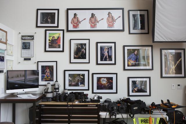 Music and portrait photographer Erik Kabik at his home studio on Thursday, Feb. 16, 2017, in Las Vegas. (Bridget Bennett/Las Vegas Review-Journal) @bridgetkbennett