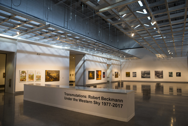 """The """"Transmutations: Robert Beckmann Under the Western Sky 1977-2017"""" exhibition at Sahara West Library in Las Vegas on Tuesday, Jan. 31, 2017. (Chase Stevens/Las Vegas Review-Journal) @csstevensphoto"""
