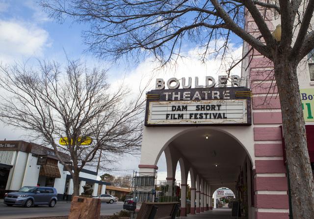 The exterior of the Boulder Theatre in Boulder City on Friday, Feb. 3, 2017. (Miranda Alam/Las Vegas Review-Journal) @miranda_alam