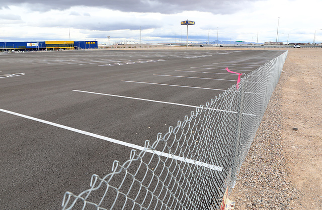 The site where Walker Furniture is said to be planning to build next to Ikea at the Southeast corner of Sunset Road and Rafael Rivera Way on Monday, Feb. 6, 2017, in Las Vegas. (Bizuayehu Tesfaye/ ...