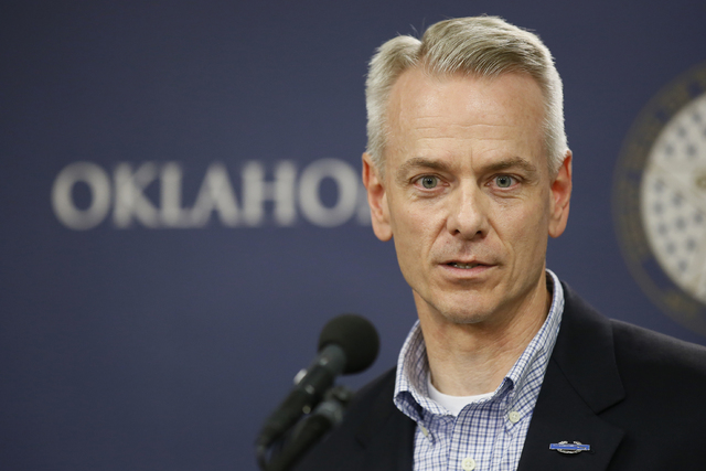 U.S. Rep. Steve Russell, R-Okla., speaks during a news conference in Oklahoma City, Tuesday, July 19, 2016. (AP Photo/Sue Ogrocki)
