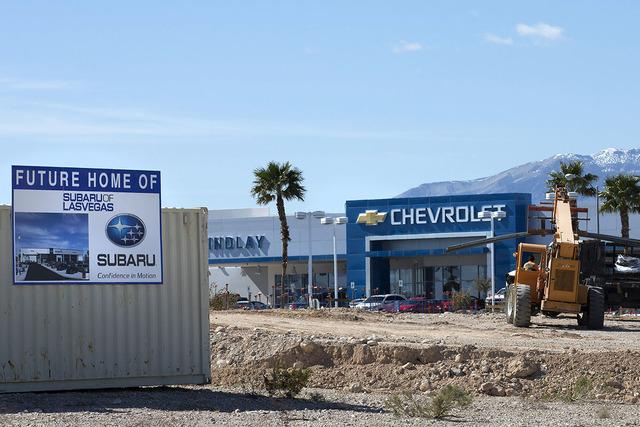 The future site of Findlay Subaru is under construction as seen on Friday, Feb. 24, 2017, in Las Vegas.  (Bridget Bennett/Las Vegas Review-Journal) @bridgetkbennett