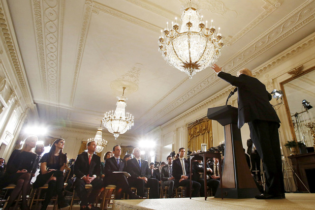 U.S. President Donald Trump answers questions during a news conference at the White House in Washington, U.S., February 16, 2017. (Kevin Lamarque/Reuters)
