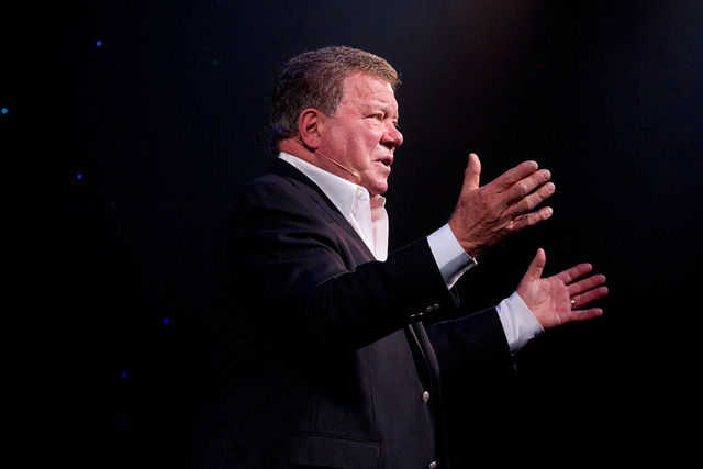 "William Shatner will be part of the ""One Night For One Drop"" show at New York-New York's Zumanity Theater on March 3. (Courtesy)"
