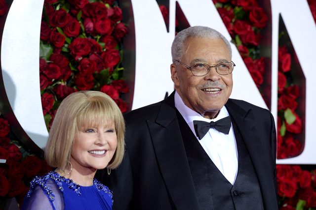 Cecilia Hart, left, and  James Earl Jones arrive at the Tony Awards at the Beacon Theatre on Sunday, June 12, 2016, in New York. (Photo by Charles Sykes/Invision/AP)