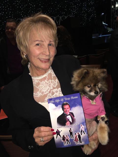 Josette LeBlond is shown at the celebration of life service for Tony Sacca at Stratosphere Showroom on Monday, Feb. 6, 2017. (John Katsilometes/Las Vegas Review-Journal)