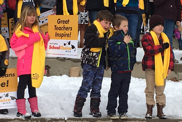 School choice students at the School Choice Week celebration in Carson City on Wednesday, Jan. 25, 2017. (Sean Whaley/Las Vegas Review-Journal)