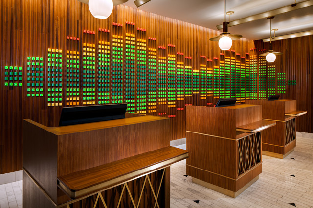 The welcome desk at W Las Vegas. (Courtesy)