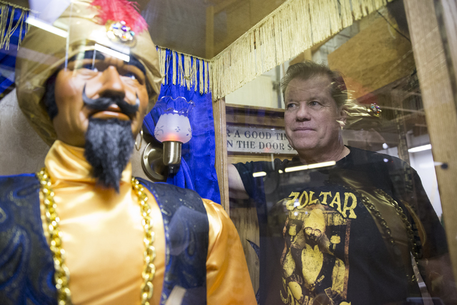 Olaf Stanton, owner of Characters Unlimited, next to a Zoltar fortune teller machine at his company's workshop on Thursday, Feb. 2, 2017, in Boulder City. (Erik Verduzco/Las Vegas Review-Journal)  ...