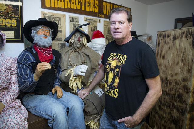 Olaf Stanton, owner of Characters Unlimited, at his company's workshop next to various completed characters on Thursday, Feb. 2, 2017, in Boulder City. (Erik Verduzco/Las Vegas Review-Journal) @Er ...