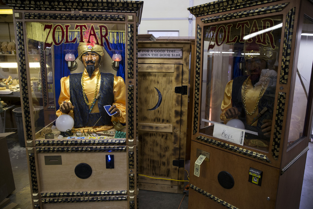 Zoltar fortune teller machines at Characters Unlimited workshop on Thursday, Feb. 2, 2017, in Boulder City. (Erik Verduzco/Las Vegas Review-Journal) @Erik_Verduzco