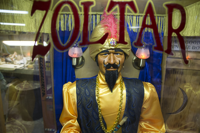 A Zoltar fortune teller machine at Characters Unlimited workshop on Thursday, Feb. 2, 2017, in Boulder City. (Erik Verduzco/Las Vegas Review-Journal) @Erik_Verduzco