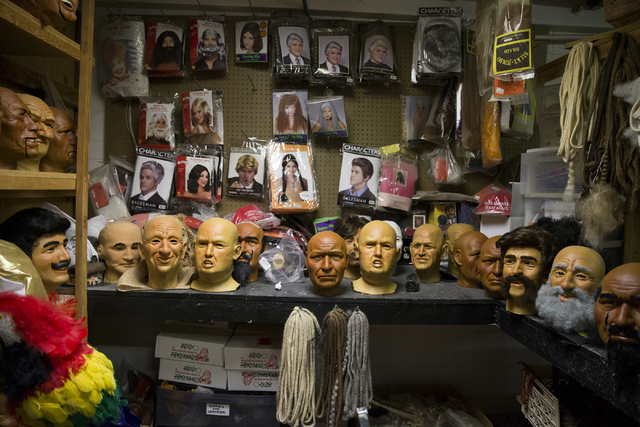 Character heads at various stages to complete at the Characters Unlimited workshop on Thursday, Feb. 2, 2017, in Boulder City. (Erik Verduzco/Las Vegas Review-Journal) @Erik_Verduzco
