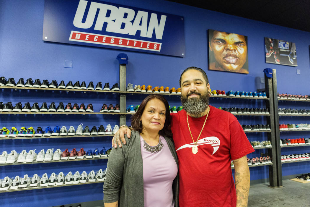 premium selection 3dfc8 9163f Maria Vaquez, mother of Jaysee Lopez, right, owner of Urban Necessities, a