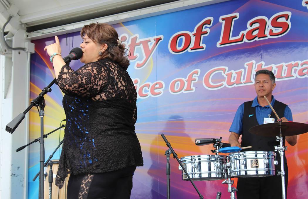Embajadores De La Cumbia perform at Gary Reese Freedom Park in Las Vegas for Cesar Chavez Day, Saturday, March 25, 2017. (Gabriella Benavidez/Las Vegas Review-Journal) @gabbydeebee