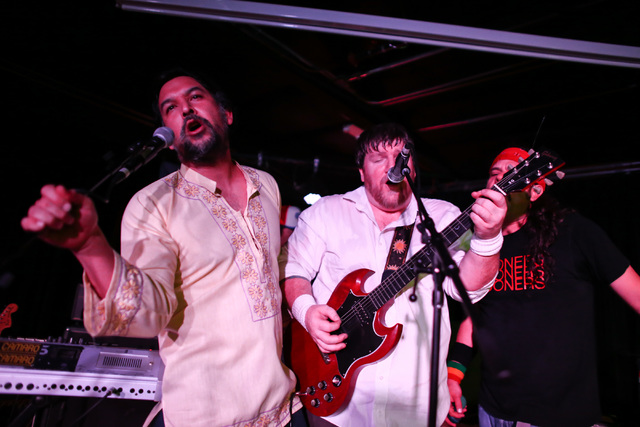 Black Camaro performs at the Bunkhouse Saloon during the second night of the Neon Reverb music festival in downtown in Las Vegas on Friday, March 11, 2016. The festival runs through Sunday, with d ...