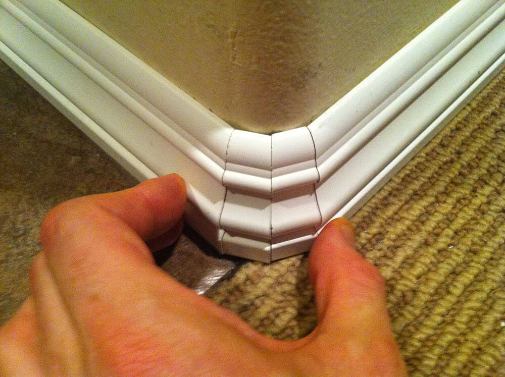 small pieces of baseboard will help negotiate rounded corners las vegas review journal. Black Bedroom Furniture Sets. Home Design Ideas