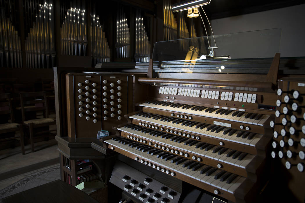 The largest organ in Nevada at Christ Church Episcopal on Tuesday, Feb. 28, 2017, in Las Vegas. (Erik Verduzco/Las Vegas Review-Journal) @Erik_Verduzco
