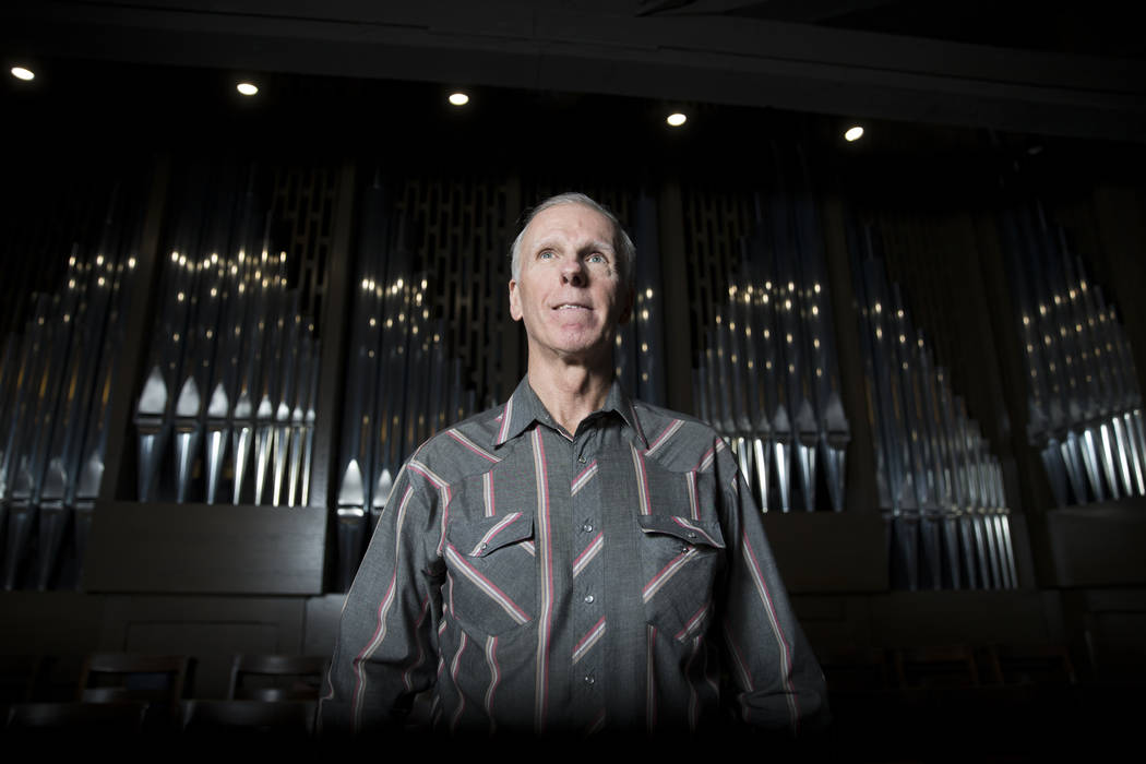 Music player David Deffner at Christ Church Episcopal with the largest organ in Nevada on Tuesday, Feb. 28, 2017, in Las Vegas. (Erik Verduzco/Las Vegas Review-Journal) @Erik_Verduzco