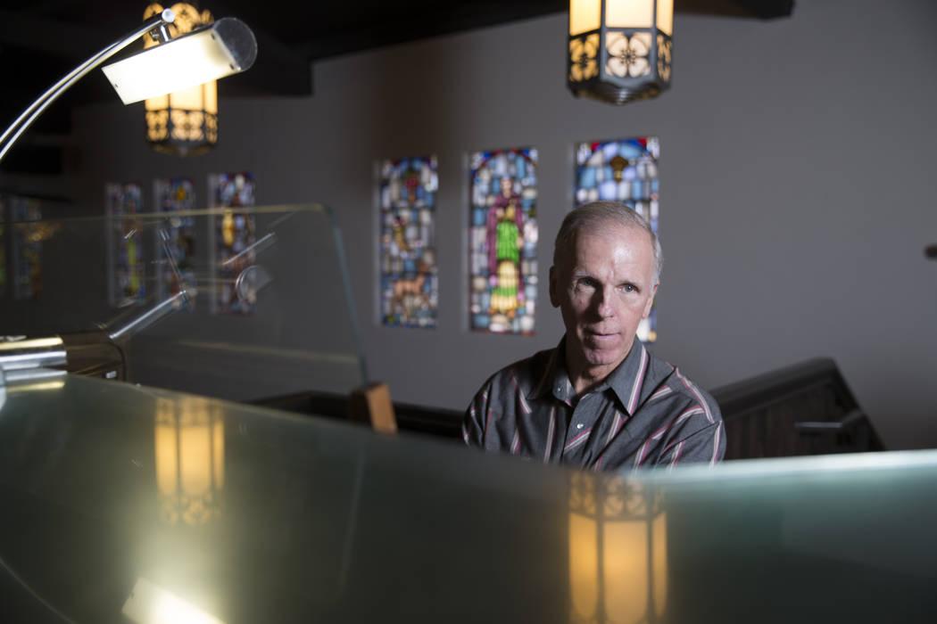 David Deffner plays the largest organ in Nevada at Christ Church Episcopal on Tuesday, Feb. 28, 2017, in Las Vegas. (Erik Verduzco/Las Vegas Review-Journal) @Erik_Verduzco