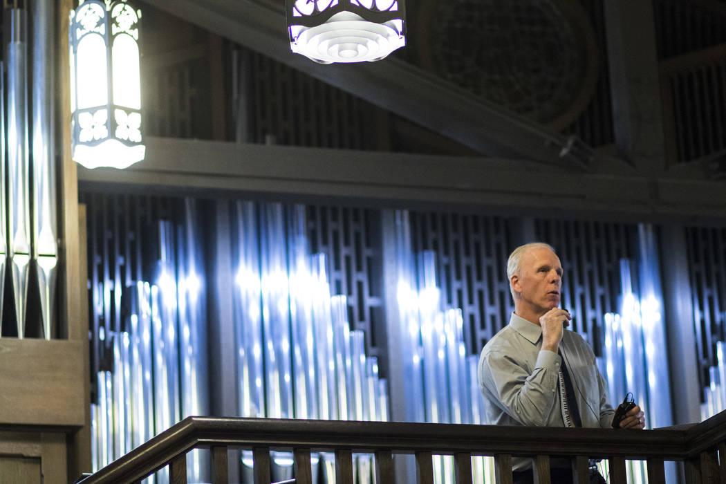 David Deffner addresses attendees at Christ Church Episcopal in Las Vegas on Friday, March 3, 2017. (Chase Stevens/Las Vegas Review-Journal) @csstevensphoto