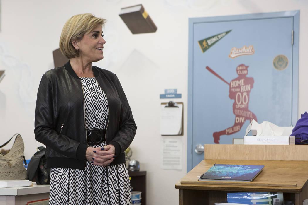 Principal Denise Murray speaks at Joseph Neal Elementary School on Tuesday, Feb. 28, 2017, in Las Vegas. (Bridget Bennett/Las Vegas Review-Journal) @bridgetkbennett