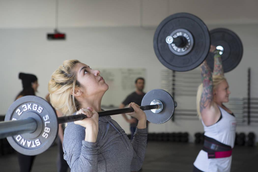 Ambar Vizcarra works out at Project Fitness on Wednesday, March 1, 2017, in Las Vegas. (Bridget Bennett/Las Vegas Review-Journal) @bridgetkbennett