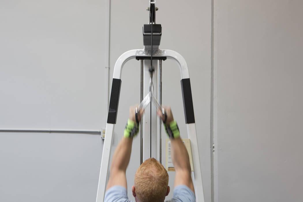 Brad Milton works out at Project Fitness on Wednesday, March 1, 2017, in Las Vegas. (Bridget Bennett/Las Vegas Review-Journal) @bridgetkbennett