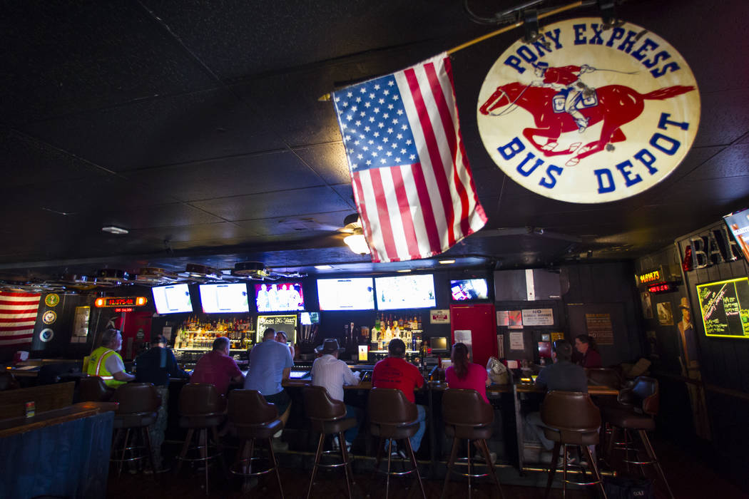 The bar area at Saddle 'N' Spurs Saloon, 2333 N. Jones Blvd., in Las Vegas on Friday, March 3, 2017. (Chase Stevens/Las Vegas Review-Journal) @csstevensphoto