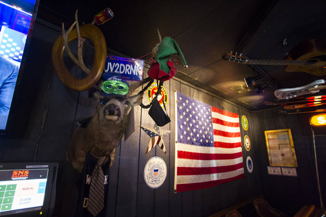 The interior of Saddle 'N' Spurs Saloon, 2333 N. Jones Blvd., in Las Vegas on Friday, March 3, 2017. (Chase Stevens/Las Vegas Review-Journal) @csstevensphoto