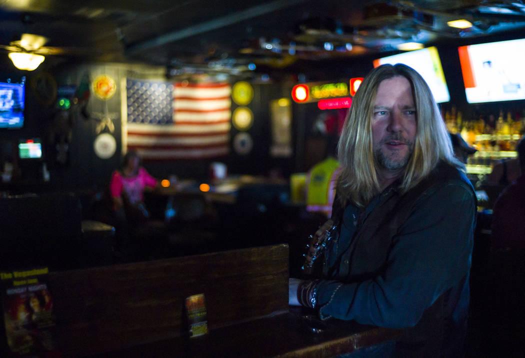 Country musician Chris Heers at Saddle 'N' Spurs Saloon, 2333 N. Jones Blvd., in Las Vegas on Friday, March 3, 2017. (Chase Stevens/Las Vegas Review-Journal) @csstevensphoto
