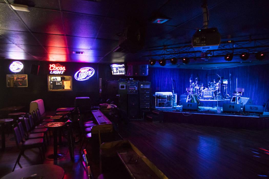 The stage area at Saddle 'N' Spurs Saloon, 2333 N. Jones Blvd., in Las Vegas on Friday, March 3, 2017. (Chase Stevens/Las Vegas Review-Journal) @csstevensphoto