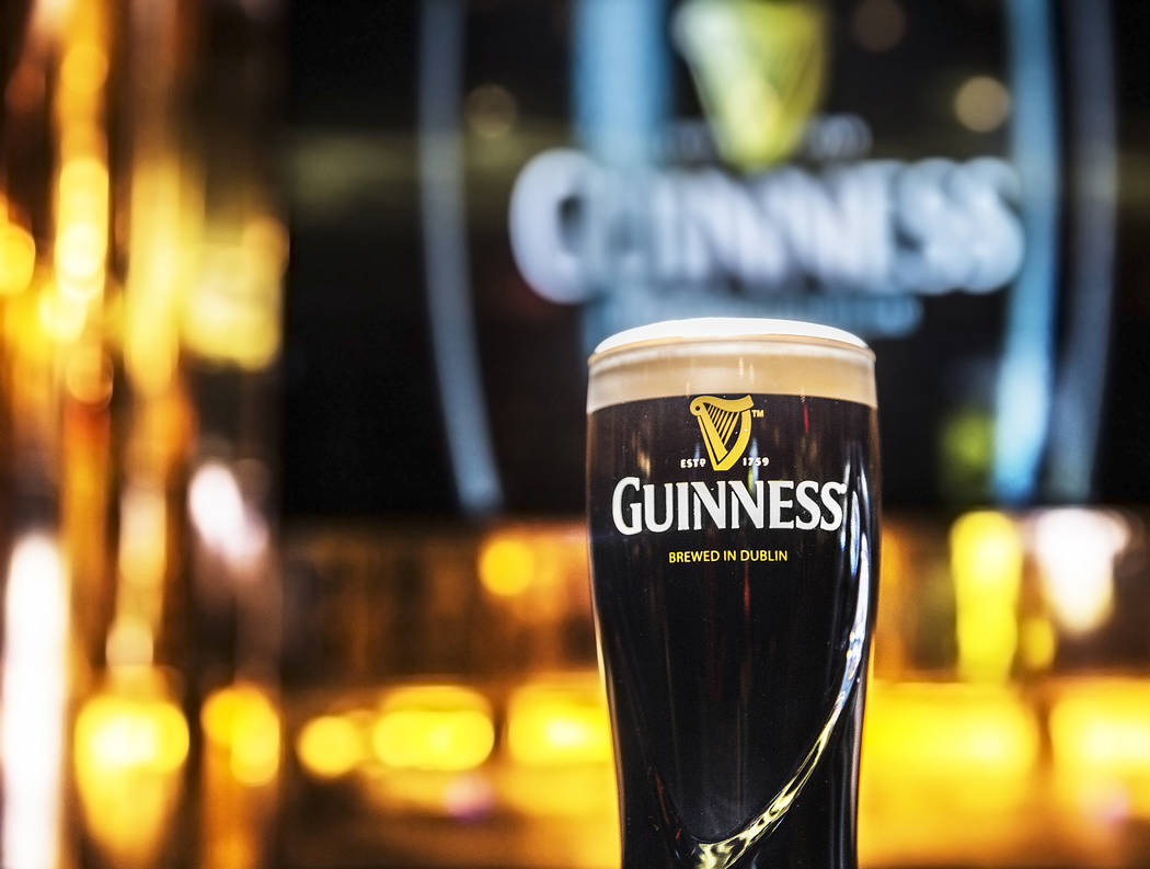 A pint of Guinness at The Guinness Experience on Thursday, March 2, 2017, at the Guinness Store in the Mandalay Bay hotel-casino, in Las Vegas. (Benjamin Hager/Las Vegas Review-Journal) @benjaminh ...