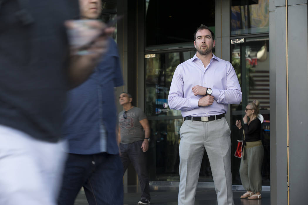Chris Connelly, a sports betting fund manager, outside of the The Cosmopolitan of Las Vegas casino-hotel on Saturday, March 18, 2017, in Las Vegas. (Erik Verduzco/Las Vegas Review-Journal) @Erik_V ...
