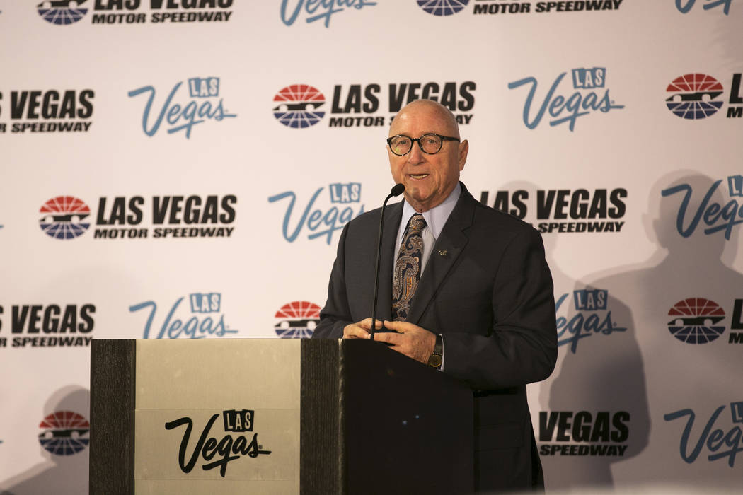 Rossi Ralenkotter, president and CEO of the Las Vegas Convention and Visitors Authority, speaks during a news conference at Cashman Center in Las Vegas on Wednesday, March 8, 2017. Officials annou ...